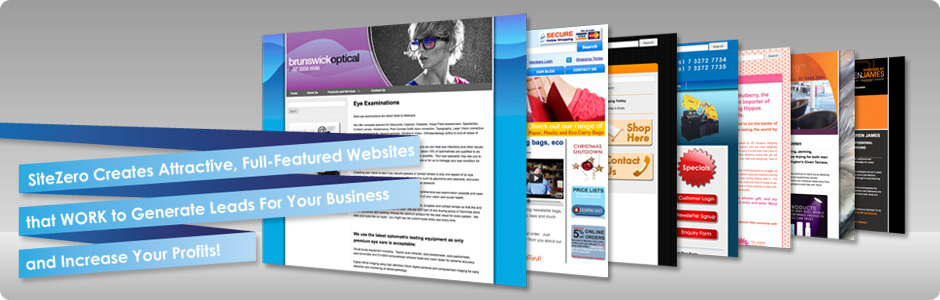 SiteZero Creates Attractive, Full-Featured Websites that WORK to Generate Leads For Your Business and Increase Your Profits!